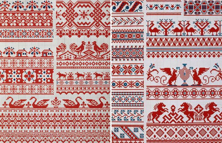 Русская народная вышивка рубахи