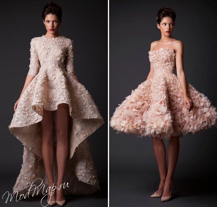 Выбираем короткое цветное свадебное платье