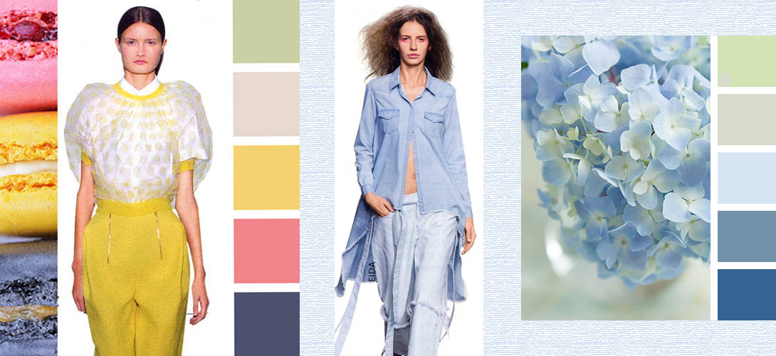 Модные цвета в одежде сезона лето 2015 года