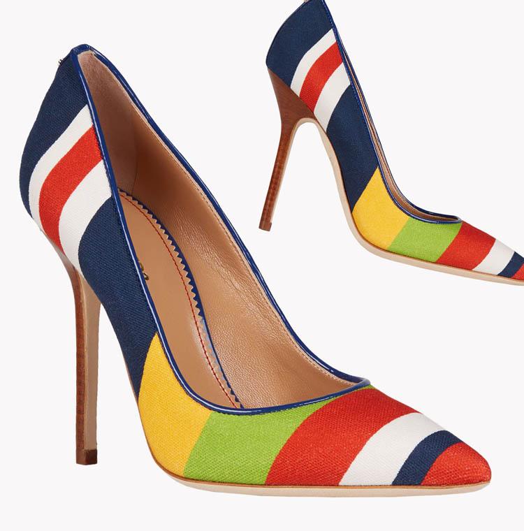 Объект желания - модные полосатые туфли лодочки Dsquared2