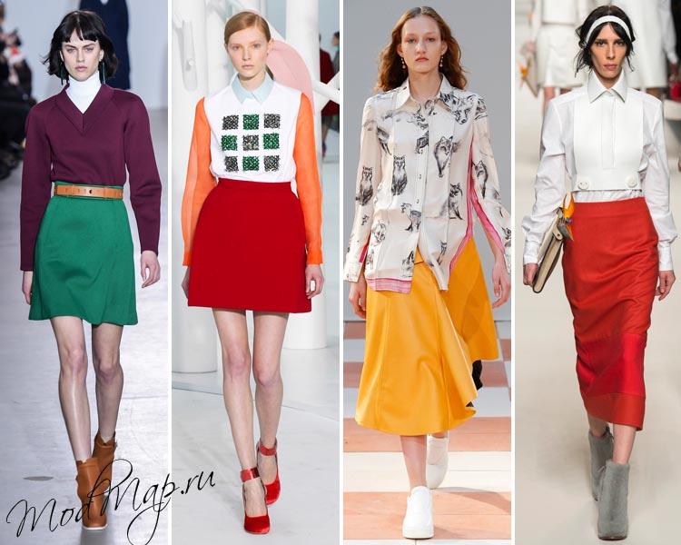 Модные юбки зима 2015