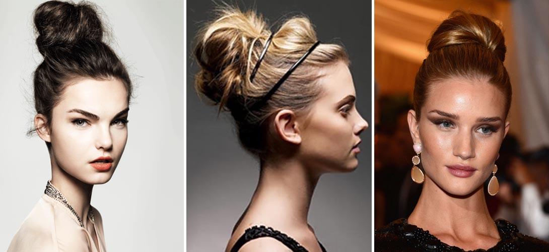 Пучок - самая удобная и модная прическа всех времен