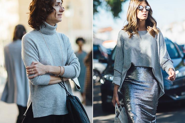 Streetstyle - модный серый цвет