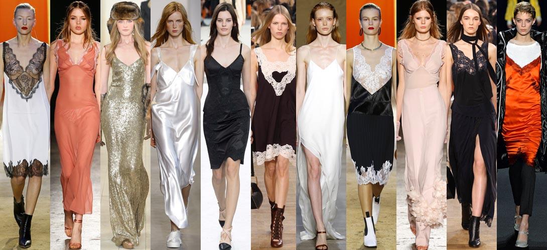 Бельевой стиль, как носить платье-комбинацию в новом сезоне