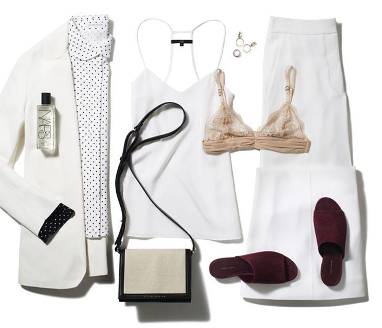 Look дня: сексуальный свободный белый костюм