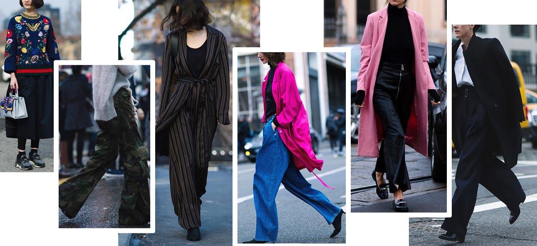 Ищем идеальные широкие брюки весна-лето 2016