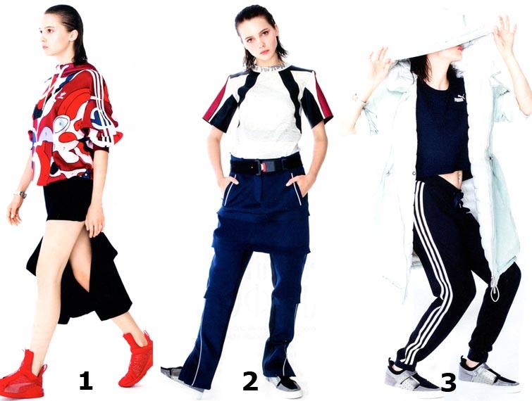 Олимпийки, кроссовки и другие спортивные вещи в повседневных нарядах