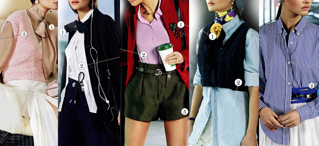 Модные блузки - как носить и с чем сочетать