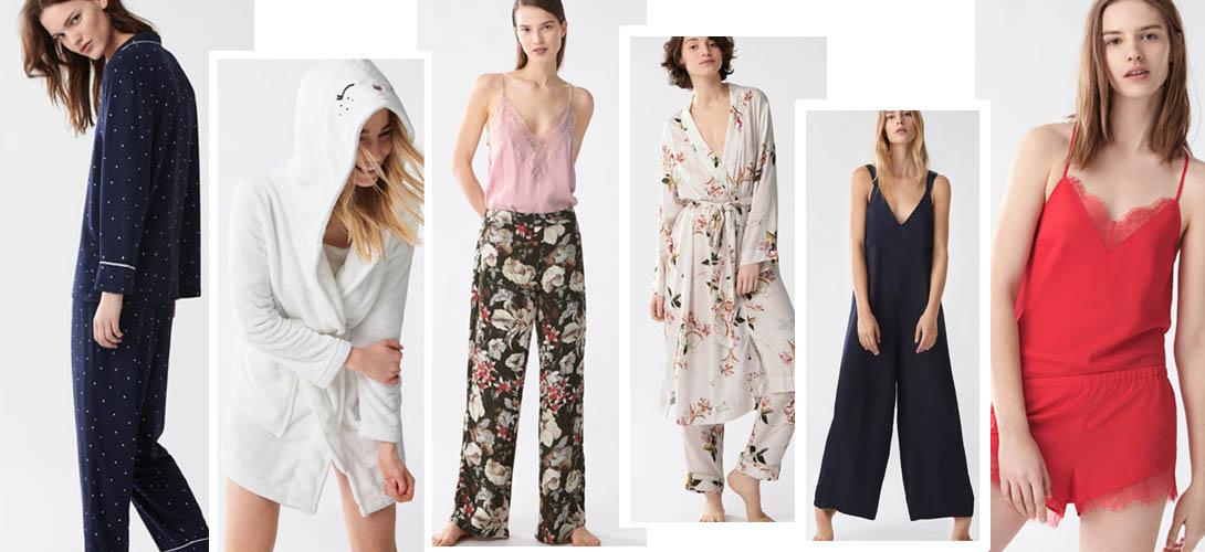 Домашняя одежда для женщины: халаты, пижамы, костюмы
