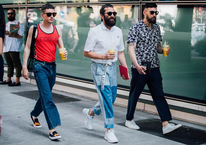 выбрать модные мужские брюки