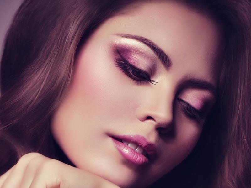 макияж в розовых тонах