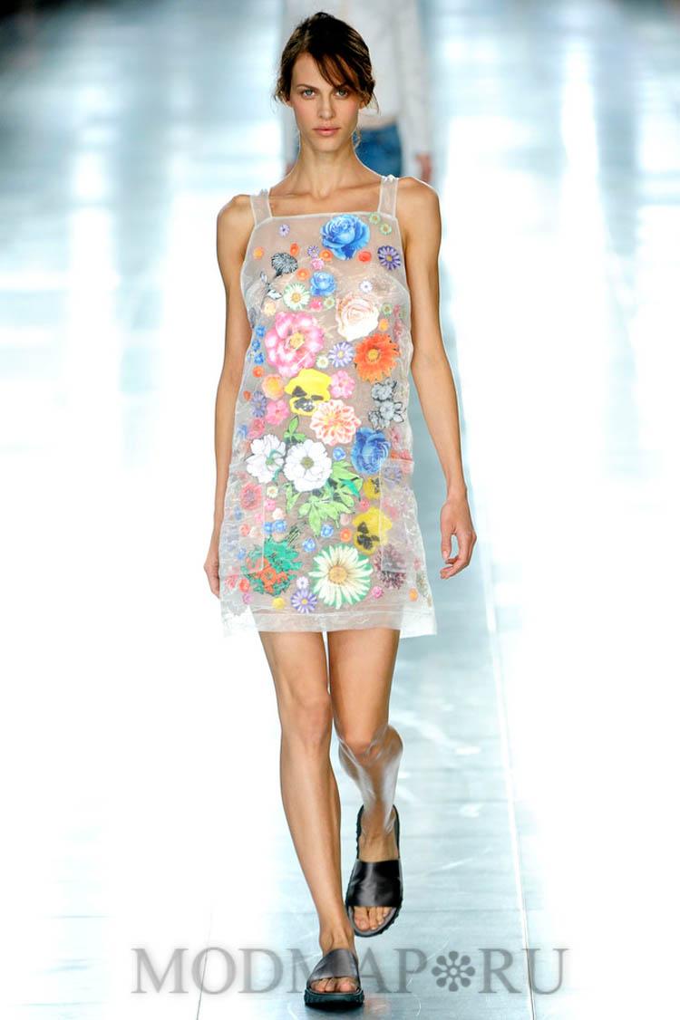 Платья прозрачные в цветы