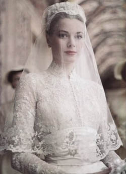 43a089dc791 Свадебное платье Грейс Келли (апрель 1956 года)