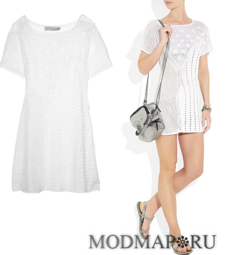 вязанные летние платья купить: