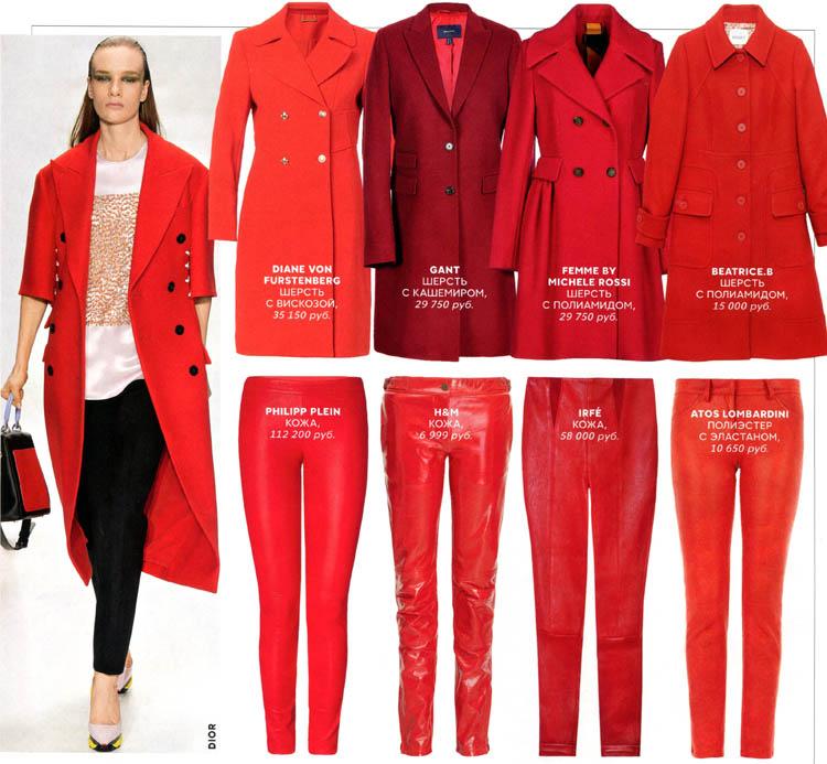 выбираем красную одежду