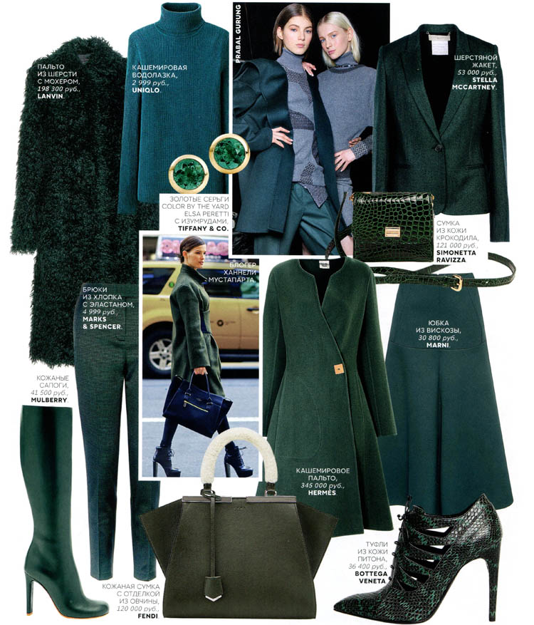 одежда зеленого цвета